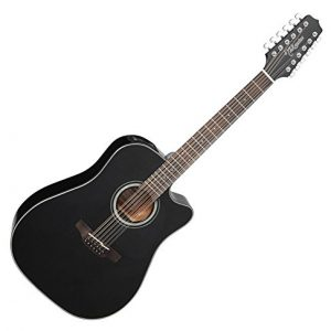 Takamine G Series Dreadnought 12-String Acoustic-Electric Guitar Black