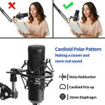 USB Podcast Condenser Microphone Kit 192kHZ/24bit Plug & Play Computer PC Microphone Studio Streaming Cardioid Mic with Professional Sound Chipset for Recording Broadcasting YouTube Gaming 3