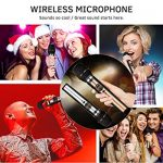 Wireless Microphone System, UHF Dual Handheld Dynamic Wireless Mic Set with Rechargeable Receiver, 1/4″ (6.35mm) Plug, 100ft, for mic Karaoke/Singing/House Parties 2