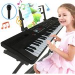 Semart piano keyboard for kids 61 key electric digital music keyboard