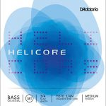 D'Addario Helicore Orchestral Bass String Set, 3/4 Scale, Medium Tension