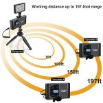 Comica CVM-WS60 Combo Wireless Dual Lavalier Lapel Microphone System, with 2 Transmitter and 1 Recevier, 194ft Wireless Range, Wireless Microphone for Smartphone iPhone Canon Nikon Sony Camera 1