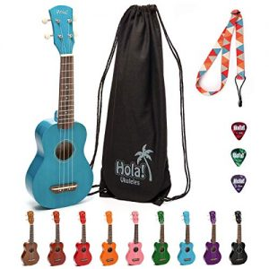 Hola! Music Soprano Ukulele Bundle with Canvas Tote Bag