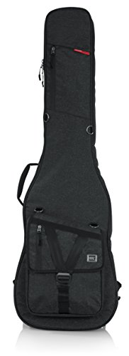 Gator Cases Transit Series Bass Guitar Gig Bag; Charcoal Black Exterior (GT-BASS-BLK)