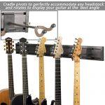 String Swing SW5RL-B-K Guitar Keeper Bundle with 5 Guitar Hangers & 1 Black Vein Strong Wall Mount 1