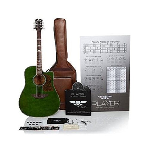 """Keith Urban 50-piece """"PLAYER"""" Acoustic Guitar and 30-Lesson Package"""
