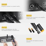 NASUM UHF Dual Channel Professional Handheld Wireless Microphone System with Dual Wireless Dynamic Microphones,LCD Display Professional Home KTV Set for Party,Meeting,Karaoke,YouTube,Classroom Black 2