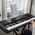 Alesis Melody 61 MKII | 61 Key Portable Keyboard with Built In Speakers, Headphones, Microphone, Piano Stand, Music Rest and Stool 1