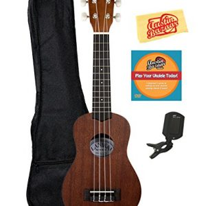 Lanikai Soprano Ukulele Bundle with Gig Bag, Clip-On Tuner
