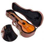 Ukulele Carrying Case velvet Interior Padded Protective Hardshell Ukuleles Gig Bag Brown Soprano 21 inch 3