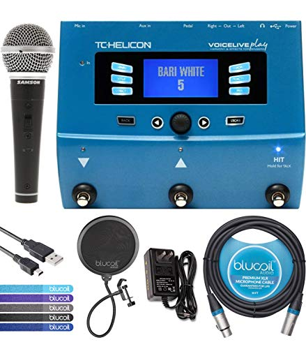 TC Helicon VoiceLive Play Vocal Effects Pedal Bundle