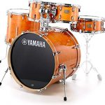 Yamaha Stage Custom Birch 5pc Drum Shell Pack – 22″ Kick, Honey Amber 1