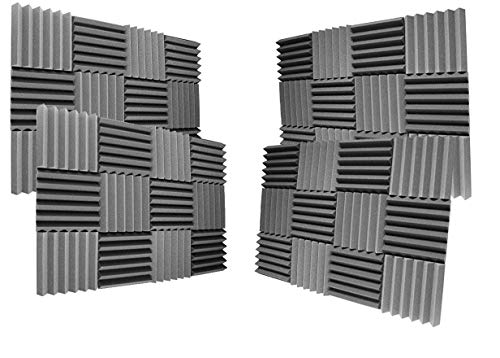 Charcoal Soundproofing Foam Sheets Acoustic Wall Panels