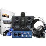 PreSonus AudioBox Studio Ultimate Deluxe Hardware/Software Recording Bundle with Headphone Holder, Tripod Microphone Stand & Pop Filter Kit 1