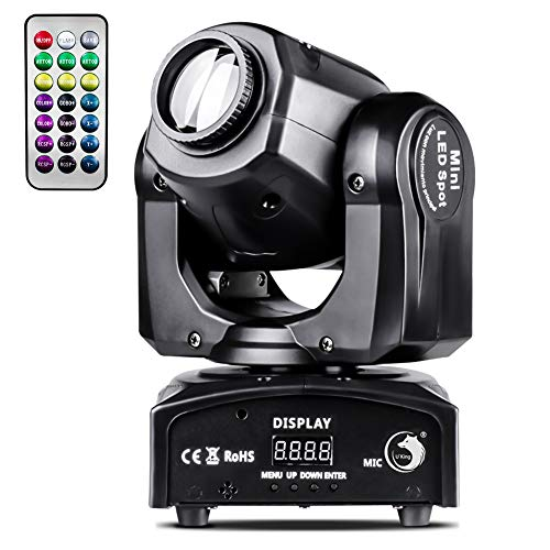 U`King 50W LED Moving Head Light with Remote 8 Gobo 8 Pattern Spotlight