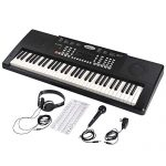 ADM 61 Key Portable Electronic Keyboard Piano Beginner Kit with Stand, Padded Bench Stool, Microphone, Headphone, Keyboard Bag and Keyboard Sticker 1