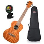 Kala Tenor Exotic Mahogany Ukulele w/ Padded Gig Bag and Tuner