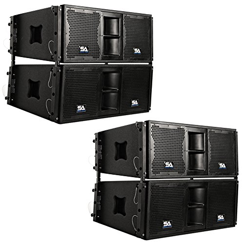 Seismic Audio - Four Passive 2x10 Line Array Speakers
