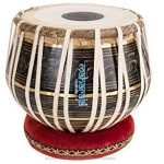 MAHARAJA Tabla Drum Set – Buy 3KG Black Brass Bayan, Finest Dayan with Book, Hammer, Cushions & Cover (PDI-EA) 1
