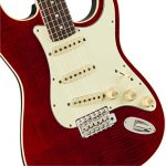 Fender Limited Edition Aerodyne Classic Flame Maple Top Stratocaster Electric Guitar (Crimson Red Transparent) 2