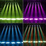HSL LED Moving Head Light Gobo Spotlight DMX512 LED Stage Lighting DJ Equipment Home Party Wedding Club Christmas Disco Stage Lights 1