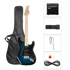 GLARRY Full Size Electric Guitar for Music Lover Beginner