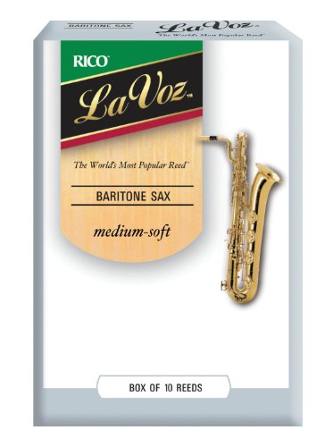 D'Addario Woodwinds La Voz Baritone Sax Reeds, Strength Medium-Soft