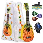 CLOUDMUSIC Ukulele Soprano Pineapple Ukulele Kit With Pineapple