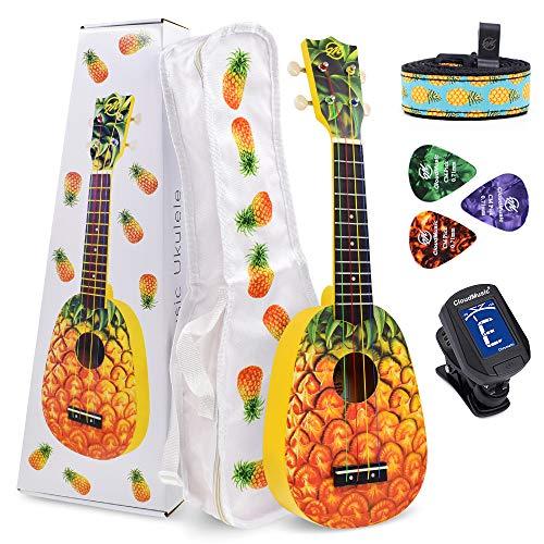 CLOUDMUSIC Ukulele Soprano Pineapple Ukulele Kit With Pineapple