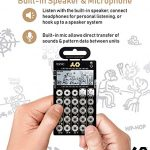 Teenage Engineering PO-32 Pocket Operator Tonic Drum Synth Bundle with Samson SR350 Over-Ear Closed-Back Headphones, Blucoil 3-Pack of 7″ Audio Aux Cables, and 4 AAA Batteries 3