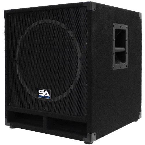 "Seismic Audio - Baby-Tremor_PW - Powered 15"" Pro Audio Subwoofer Cabinet"