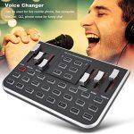 Zopsc F8 Live Sound Card External Audio Mixer Mobile Phone Voice Changer Karaoke Voice Mixer for Live Broadcast Recording, Home KTV, Voice Chat, etc 2
