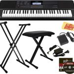 Casio Portable Keyboard Bundle with Stand, Bench