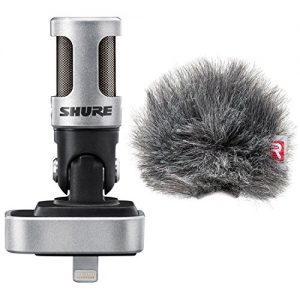 Shure iOS Digital Stereo Condenser Microphone w/ Rycote Windjammer Windscreen