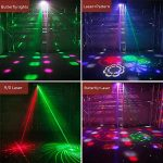 [2019 UPGRADED]Stage Lights, 4 in 1 Mixed Sound Effect Strobe RGBW LED Disco lights with Remote and DMX Controlled for DJ Club Home Party KTV Xmas(Black) 3