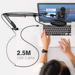 FIFINE Studio Condenser USB Microphone Computer PC Microphone Kit with Adjustable Scissor Arm Stand Shock Mount for Instruments Voice Overs Recording Podcasting YouTube Karaoke Gaming Streaming-T669 3