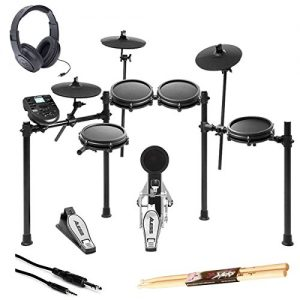 Alesis Nitro Mesh Electronic Drum Kit With a Pair of Drum Sticks + Headphones