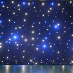 LED backdrop 3m x 4m Blue and white LED Star Curtain DMX Control for wedding event stage show 2