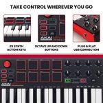 Akai Professional MPK Mini MKII | 25 Key Portable USB MIDI Keyboard With 8 Backlit Performance Ready Pads, 8 Assignable Q Link Knobs & A 4 Way Thumbstick 3
