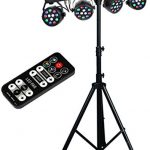 MUSYSIC MU-L31A Complete Professional 4-Par 4-in-1 Stage LED Lights DJ Band DMX System & Stand