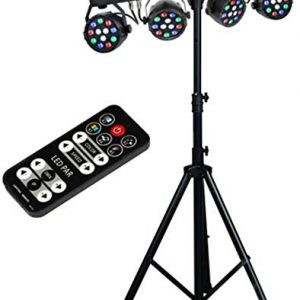 MUSYSIC Complete Professional 4-Par 4-in-1 Stage LED Lights