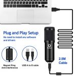 USB Podcast Condenser Microphone Kit 192kHZ/24bit Plug & Play Computer PC Microphone Studio Streaming Cardioid Mic with Professional Sound Chipset for Recording Broadcasting YouTube Gaming 2