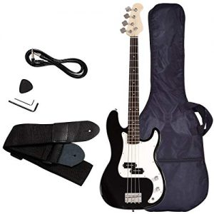 Electric Bass Guitar, Safeplus Starters Acoustic Guitar Full Size