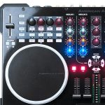 ADJ Products VMS5 is 6 channel stand alone Midi Controller with 2 Phono, 4 Line, 4 USB, 2 Mic inputs 3