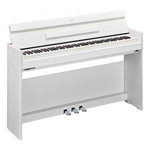 Yamaha Arius Series Slim Digital Console Piano, Satin White