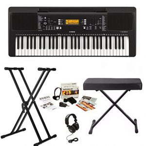 Yamaha Keyboard with Survivalkit, Headphones