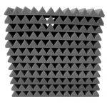 48 Pack Acoustic Panels Studio Foam Charcoal Wedges 1″ X 12″ X 12″ 1