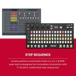 Akai Professional Fire | Performance Controller for FL Studio With Plug-And-Play USB Connectivity, 4 x 16 Velocity-Sensitive RGB Clip Matrix, OLED Display and FL Studio Fruity Fire Edition Included 2