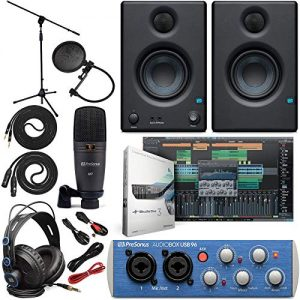 Presonus AudioBox 96 Audio Interface Full Studio Bundle