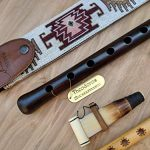 ARMENIAN DUDUK PRO from Apricot Wood, 2 Professional Reeds, National Leather Case, Playing Instruction and Free Gift Flute, ARMENIAN Handmade Woodwind Instrument, Oboe, Balaban 1